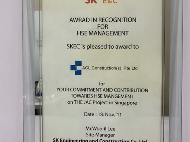 2011 Award Acl Construction