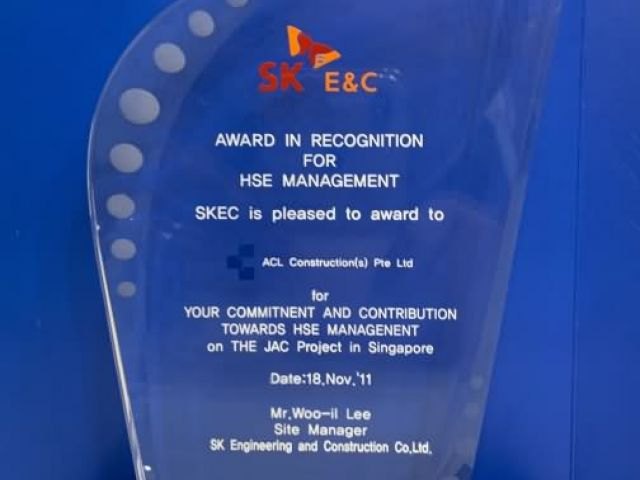 2011 Award By SKEC Acl Construction