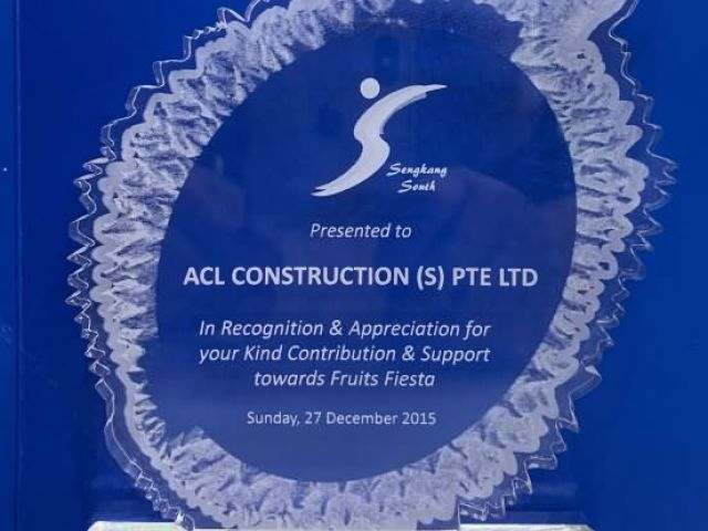 2015 Recognition Appreciation Award Acl Construction