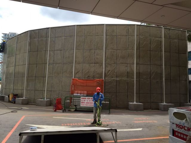 Noise Barrier Acl Construction